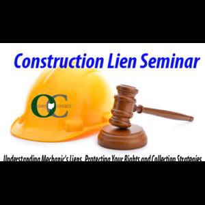 Constr Lien Seminar